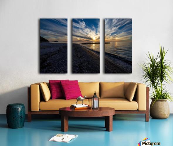 La Bloc Sunset Split Canvas print