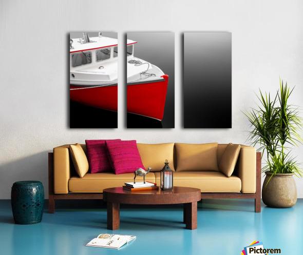 Crimson Split Canvas print