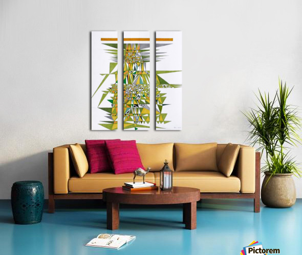 tetris number 4 Split Canvas print