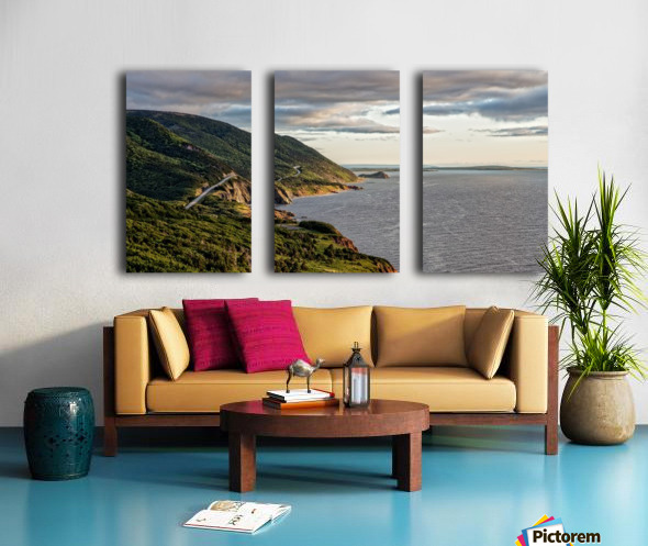 Summer on the Cabot Trail Split Canvas print