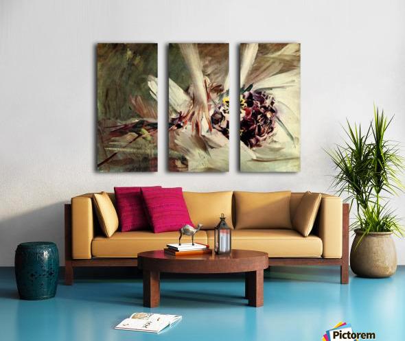 The Pansy by Giovanni Boldini Split Canvas print