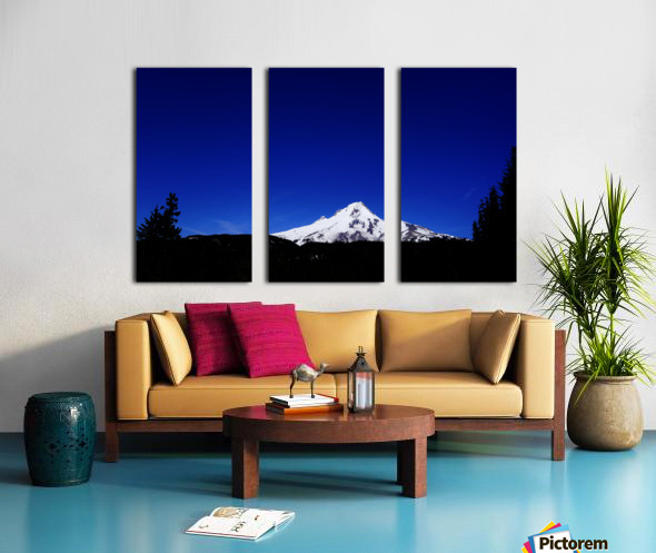 Mount Hood in the Waning Light of Day - Oregon Columbia River Gorge Split Canvas print