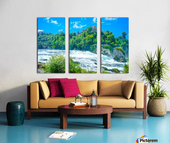 Perfect Day at Rhine Falls Switzerland Split Canvas print
