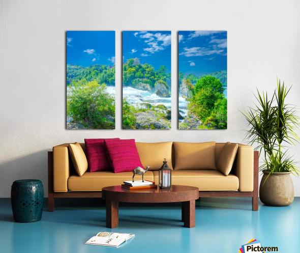 Beautiful Day at Rheinfall Switzerland 1 of 2 Split Canvas print