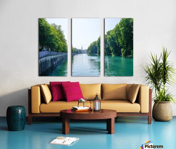 Snapshot in Time Zurich in Summer 1 of 6 Split Canvas print