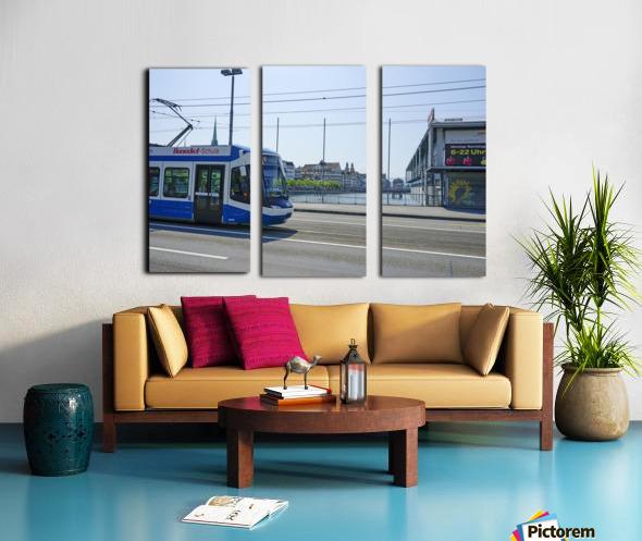 Snapshot in Time Zurich in Summer 4 of 6 Split Canvas print