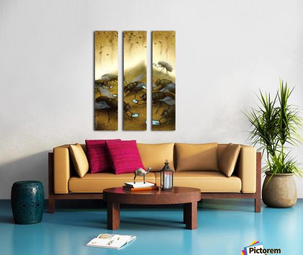 warm news Split Canvas print