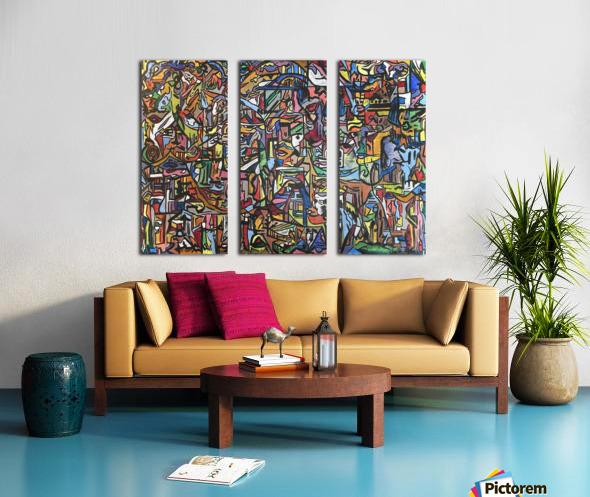 Dissociation Split Canvas print