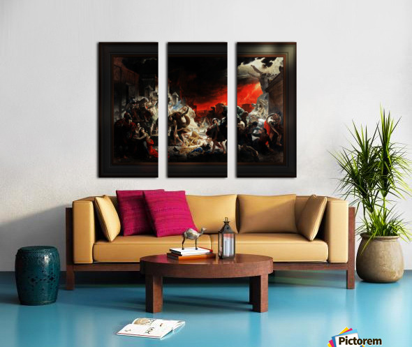 The Last Day of Pompeii by Karl Bryullov Classical Fine Art Xzendor7 Old Masters Reproductions Split Canvas print