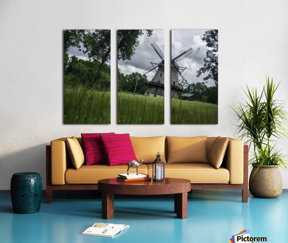 Windmill in a Storm Split Canvas print