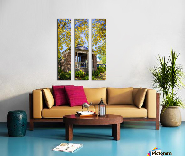 Shelter in the Fall Split Canvas print