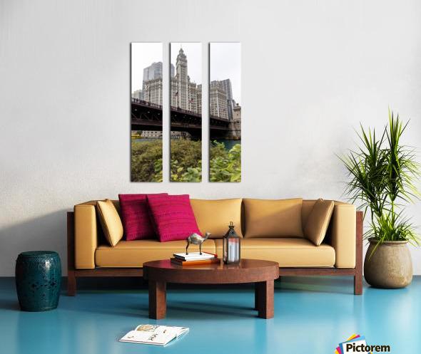 Wrigley Building Chicago Split Canvas print