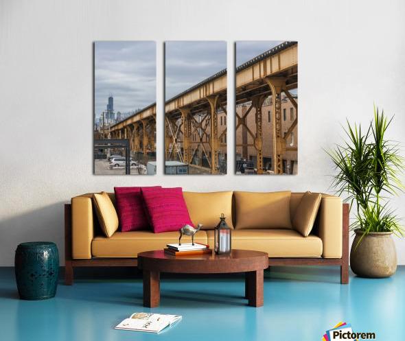 Take the Next Train Split Canvas print