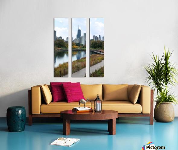 Hancock Over Lincoln Park Split Canvas print