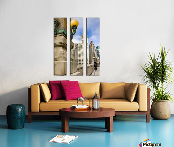 Looking into the River Split Canvas print