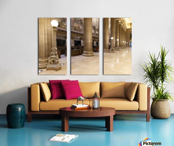 Bank Columns Split Canvas print