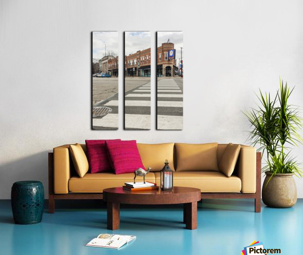 Strolling Down the Street Split Canvas print