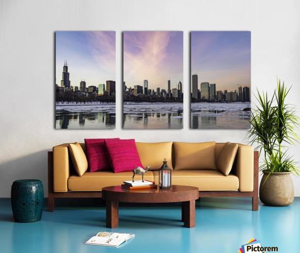 Chicago Skyline at Dusk Split Canvas print