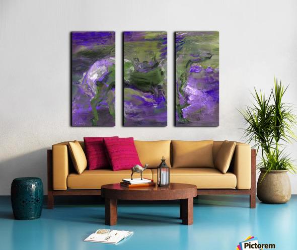 Ghost Rider - Violet Split Canvas print
