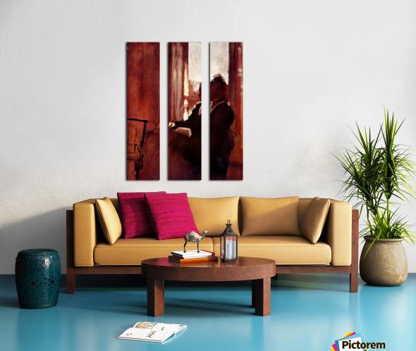 Woman at the window by Degas Split Canvas print