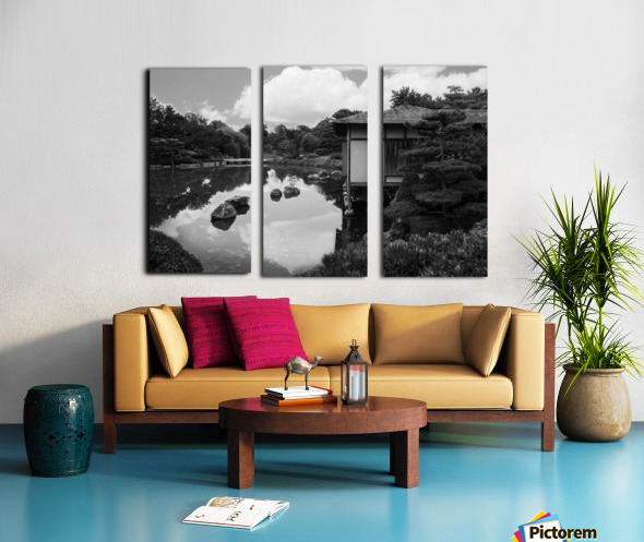 Black White Pond Split Canvas print
