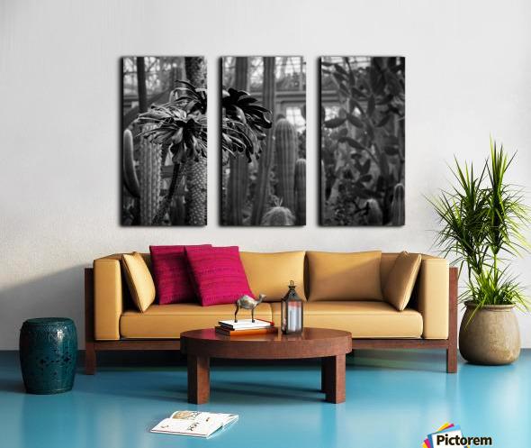 Desert in Black White Split Canvas print