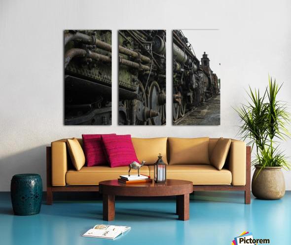 Old Train in the Yard Split Canvas print