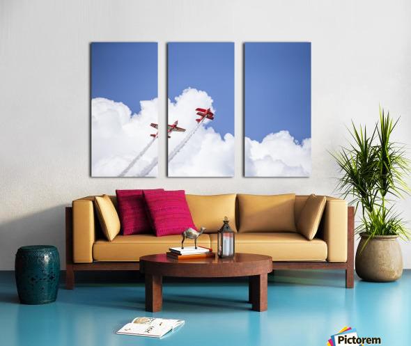 Red Against a Blue Sky Split Canvas print