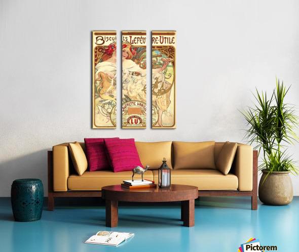 Biscuits Lefevre-Utile Split Canvas print