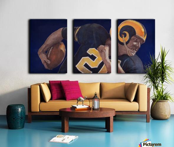 1959 LA Rams Vintage Football Art Split Canvas print