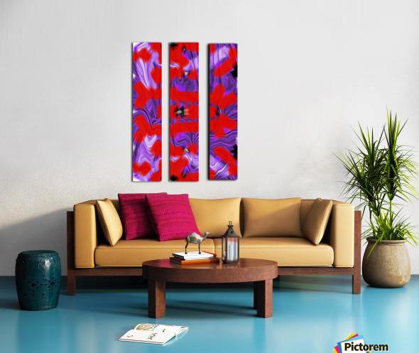 Purple Explorer Split Canvas print