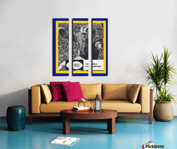 LA Rams 1951 World Champions Art Split Canvas print