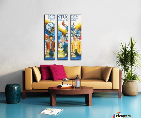 1977 Kentucky Football Poster Split Canvas print