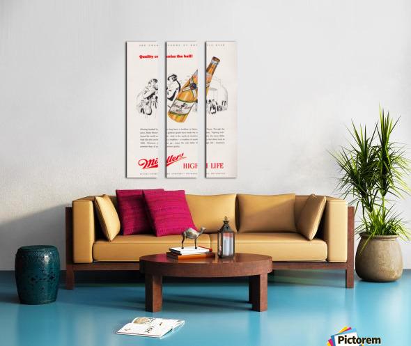 1947 Miller Beer Ad  Split Canvas print