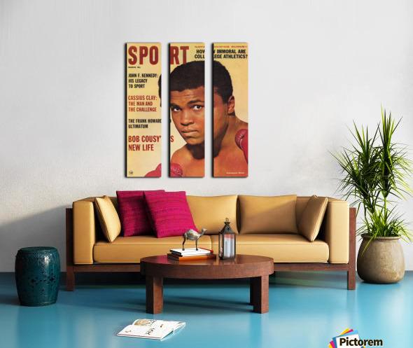 1964 Sport Magazine Muhammad Ali Cover Split Canvas print