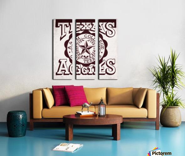 Vintage Texas Aggies Art Split Canvas print