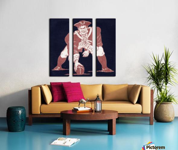 1976 New England Patriots Vintage Art Split Canvas print