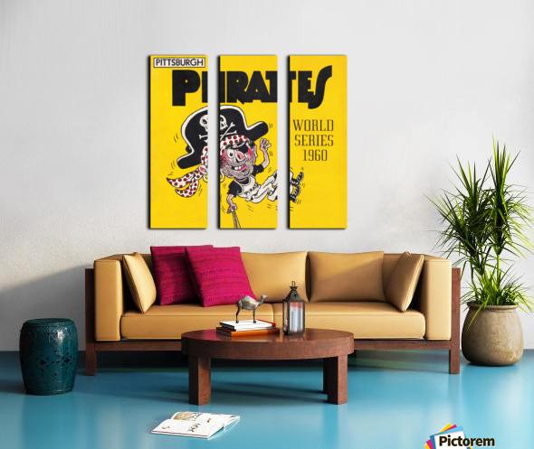 1960 Pittsburgh Pirates World Series Art Split Canvas print