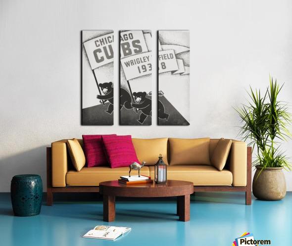 1938 Chicago Cubs Remix Row 1 Split Canvas print