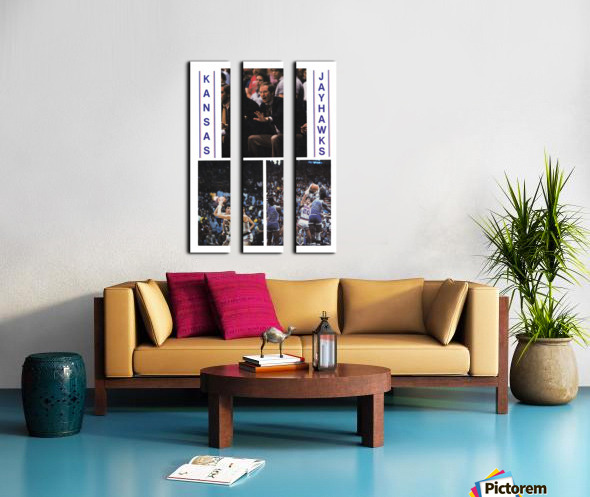 1982 Kansas Jayhawks Basketball Art Split Canvas print