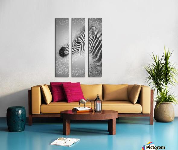 zebre 2 Split Canvas print