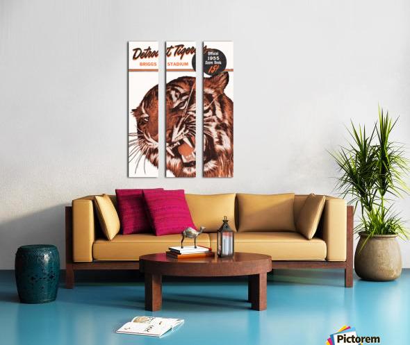 1955 Detroit Tigers Score Book Canvas Split Canvas print
