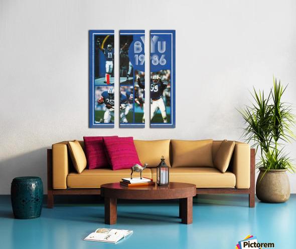 1986 BYU Cougars Football Art Split Canvas print