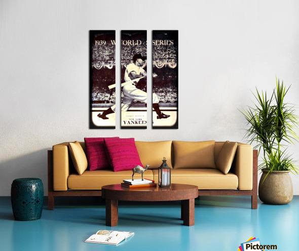 1939 Vintage World Series Program Cover Art Remix by Row 1 Split Canvas print