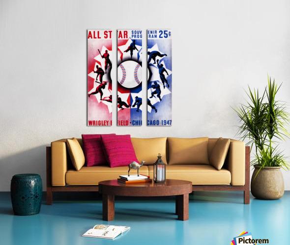 1947 Chicago All-Star Game Program Art Split Canvas print