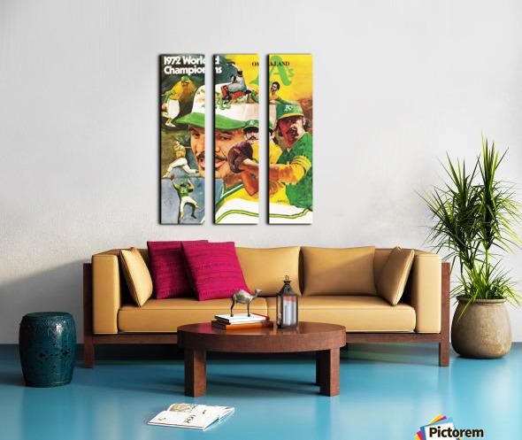 1972 Oakland Athletics World Champions Poster Split Canvas print