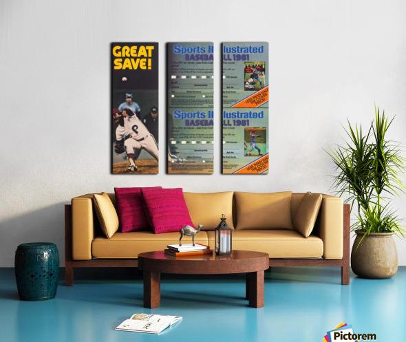 1981 Sports Illustrated Baseball Ad Poster Split Canvas print