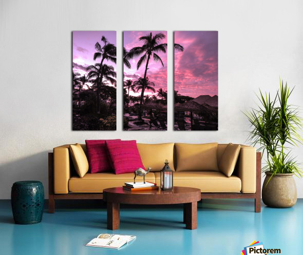 After the Beach Party - Tropical Sunset Hawaii Split Canvas print