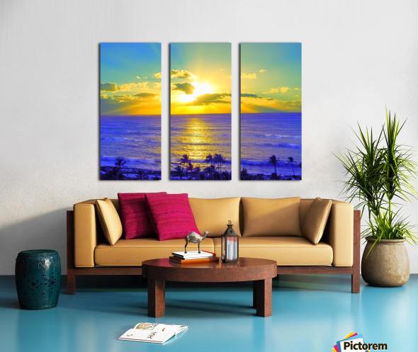 Golden Sunset After the Storm Split Canvas print