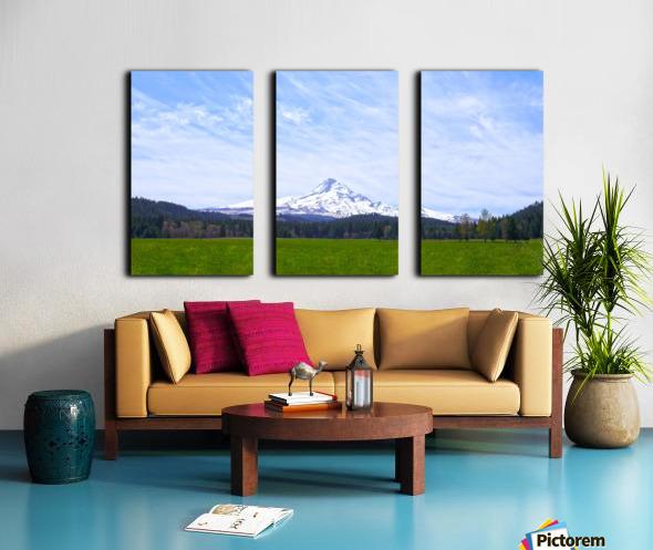Majestic Mount Hood   Cascade Mountain Range Oregon Split Canvas print